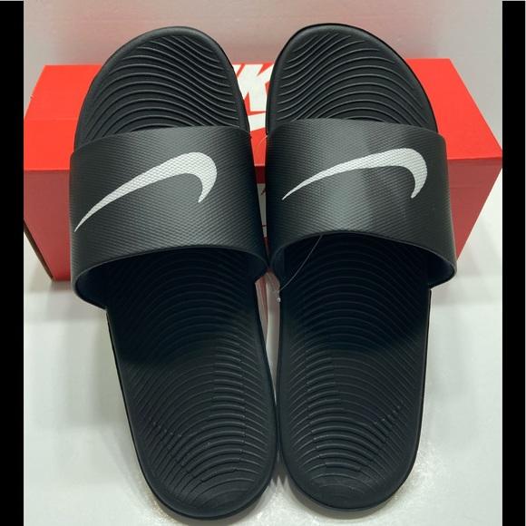 NEW Nike Kawa Mens Slide Sandals Black/White 10